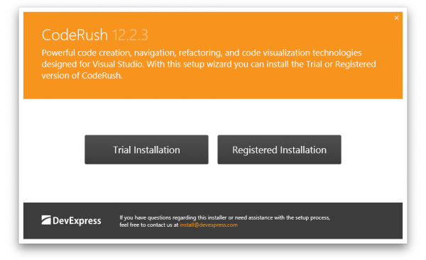 DevExpress CodeRush Installation 1