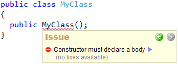 CodeRush Code Issues - Constructor without body