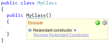 CodeRush Code Issues - Redundant сonstructor