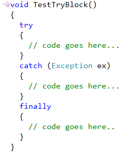 CodeRush Try Statement Without Catch Or Finally Fix 3