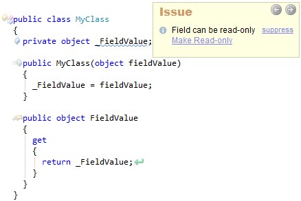 CodeRush Field Can Be Readonly Preview