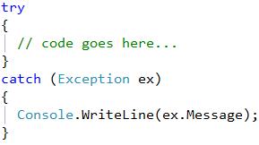 CodeRush Catch Block Is Empty Fix