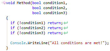CodeRush Nested Conditional Can Be Flattened Fix