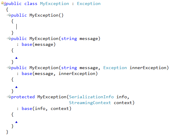 CodeRush Add Missing Constructors result (CS)