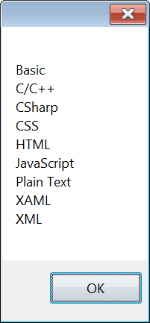 Reading DXCore Known Languages settings file result