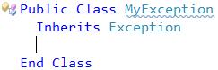 CodeRush - New Exception descendant (VB)
