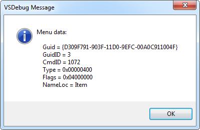DXCore VSDebug - Item click
