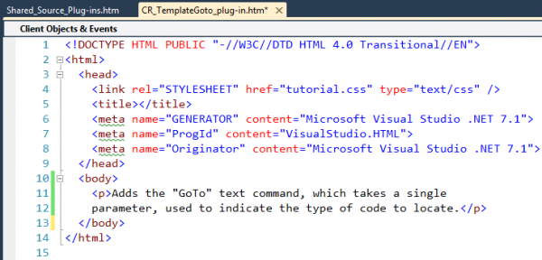 User Guide Plug-in topic html code