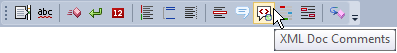 CodeRush XML Doc Comments on the DXCore Visualize Toolbar