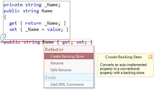 Refactor! Create Backing Store preview (CS)