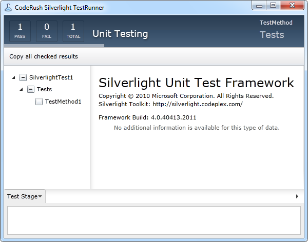 DevExpress CodeRush Silverlight Test Runner