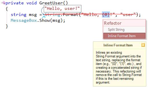 Refactor! Inline Format Item preview