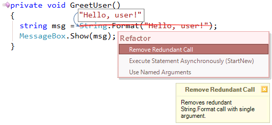 Refactor! Remove Redundant Call preview