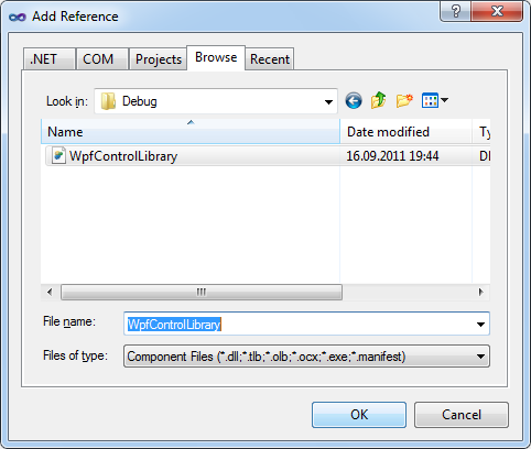 DXCore Add Reference Dialog