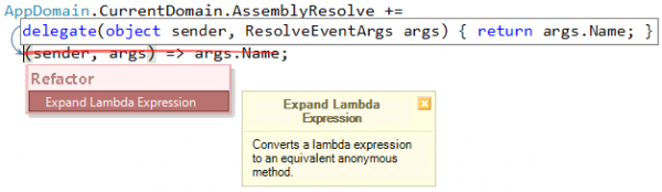 Refactor! Expand Lambda Expression preview