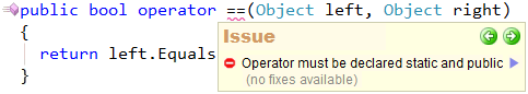 CodeRush Operator must be declared public and static