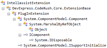 DXCore IntellassistExtention hierarchy