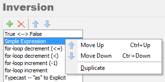 CodeRush Selection Inversion context menu