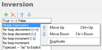 CodeRush Selection Inversion context menu