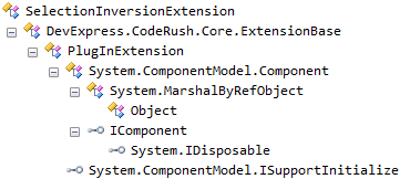 DXCore SelectionInversionExtension hierarchy