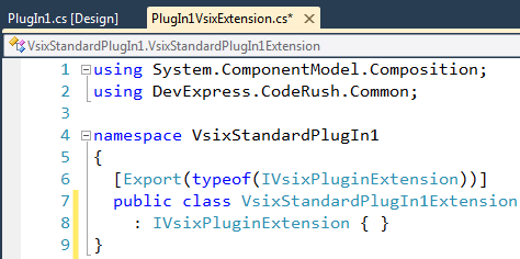 DXCore VSIXPlugInExtention implementer