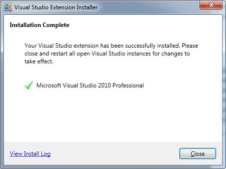DXCore VsixStandardPlugIn installation complete