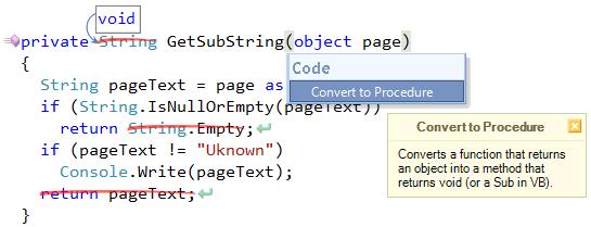 CodeRush Convert to Procedure preview