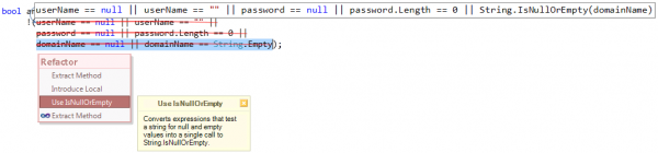 Refactorings - Use IsNullOrEmpty partial preview