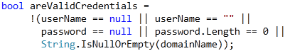 Refactorings - Use IsNullOrEmpty partial result