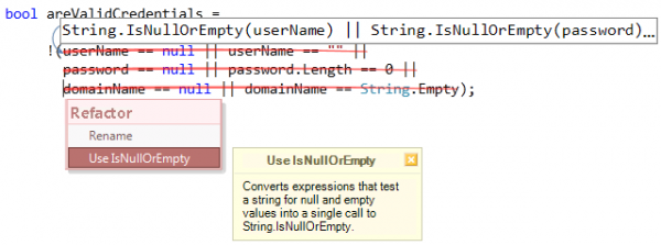 Refactorings - Use IsNullOrEmpty preview
