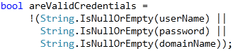 Refactorings - Use IsNullOrEmpty result