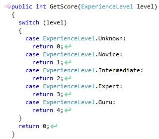 CodeRush Case Statement Do Not Explocitly Handle All Enum Values Fix