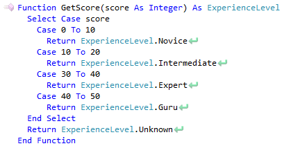 CodeRush Case Statement Has Incorrect Range Of Integers Expression Fix