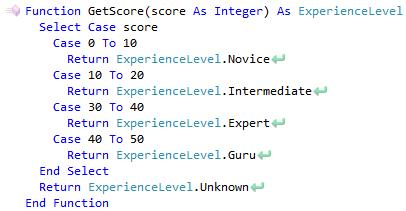 CodeRush Case Statement Has Incorrect Range Of Integers Expression Fix