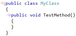 CodeRush Method Must Have A Return Type Fix