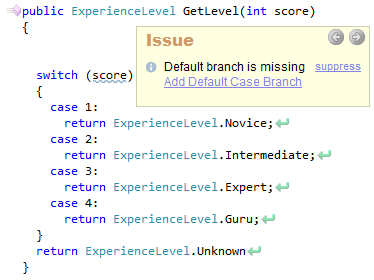 CodeRush Default Branch Is Missing Sample