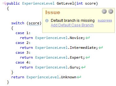 CodeRush Default Branch Is Missing Sample