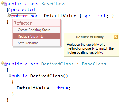 Refactor! Reduce Visibility refactoring preview