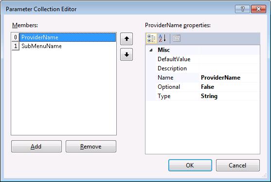 DevExpress DXCore Action parameters