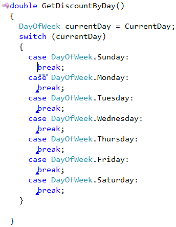 DevExpress Create Case Blocks from Enum provider result