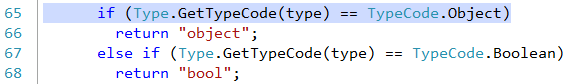 Visual Studio bookmark line preview