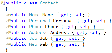 Contact class result