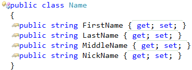 Name class extracted