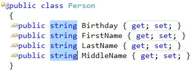 Visual Studio box selection