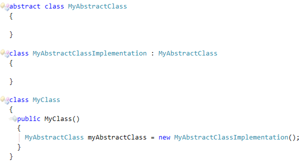 CodeRush Cannot create instance of abstract class fix