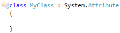 CodeRush Generic class cannot derive from Attribute Fix1