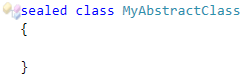 CodeRush Sealed class cannot be abstract Fix1