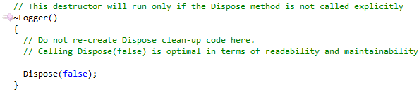 Implement IDisposable finalizer