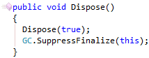 Implement IDisposable first Dispose method