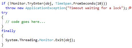 CodeRush Lock to Try/Finally modified code